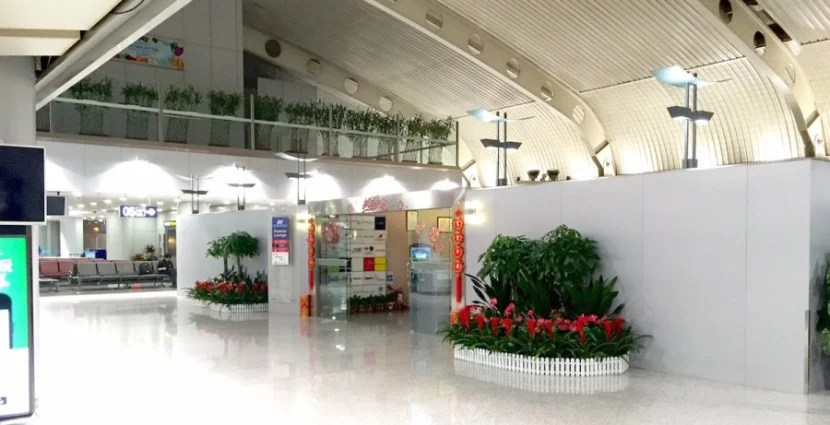 The entrance to the lounge SriLankan shares with several other airlines.
