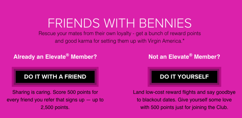 Refer a friend to earn free Elevate points.