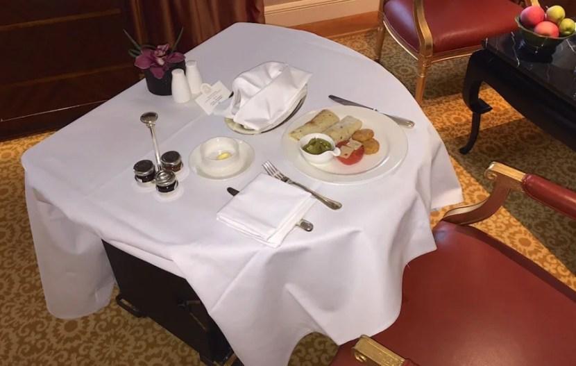 Room service breakfast was decent.