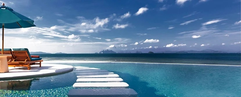 Starwood Naka Island Phuket pool banner