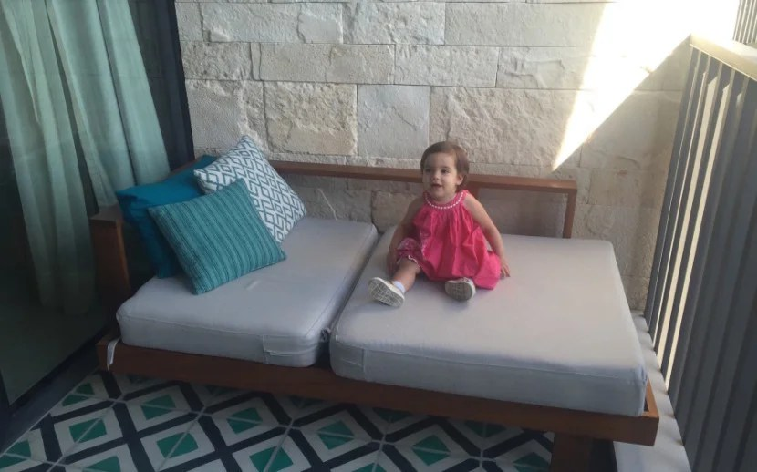 Evy in particular enjoyed lounging on the balcony's daybed.