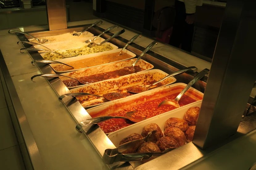 The hot buffet was a bit picked over, but still had many options to choose from.