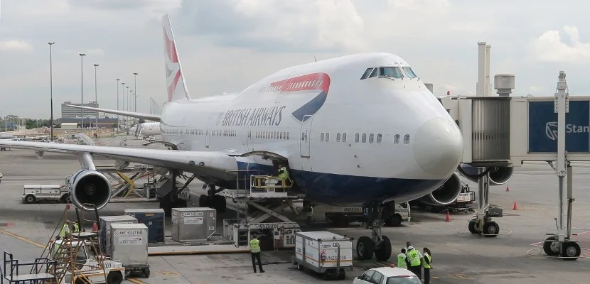 British Airways 747-400 in Johannesburg