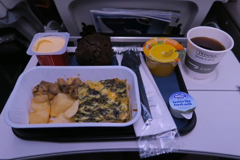 Breakfast tasted better than it appeared.
