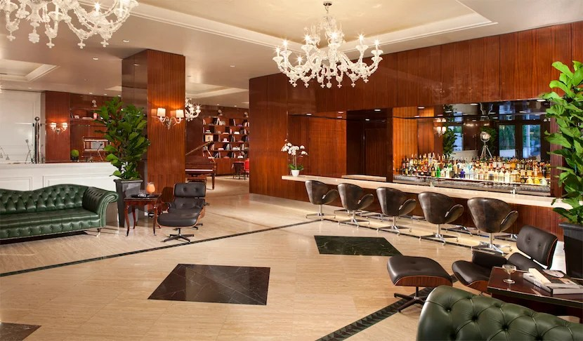 The super-swanky Mr. C Beverly Hills lobby. Image courtesy of the hotel.