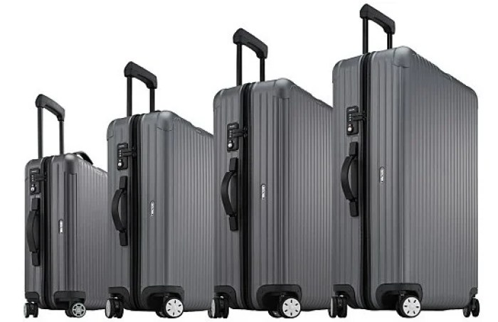 Rimowa's Salsa Cabin Matte collection comes in several sizes. Image courtesy of Rimowa.