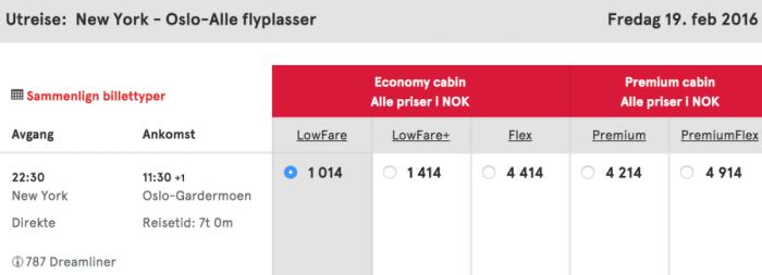 My New York to Oslo leg.