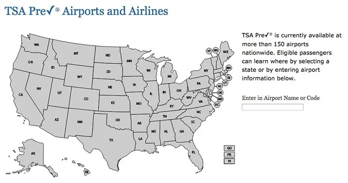 You'll find TSA PreCheck lanes at plenty of airports around the country.