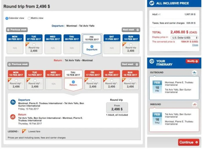 Montreal (YUL) to Tel Aviv (TLV) for $1,885 in Turkish business class.