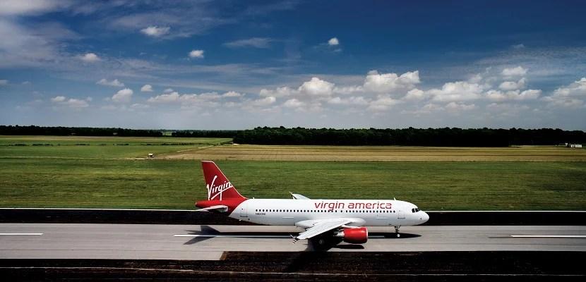 Virgin America Plane on Runway featured