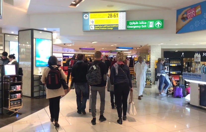 The transfer to Terminal 3 involved a long walk through Duty Free.