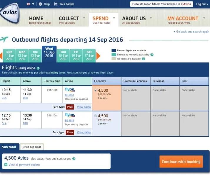 It's a short flight to Barra beach, but only 4,500 Avios.