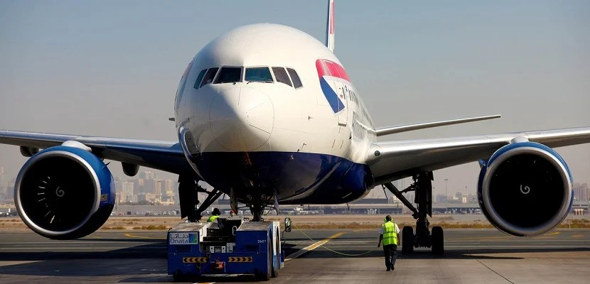 British Airways plane 777 Heathrow featured