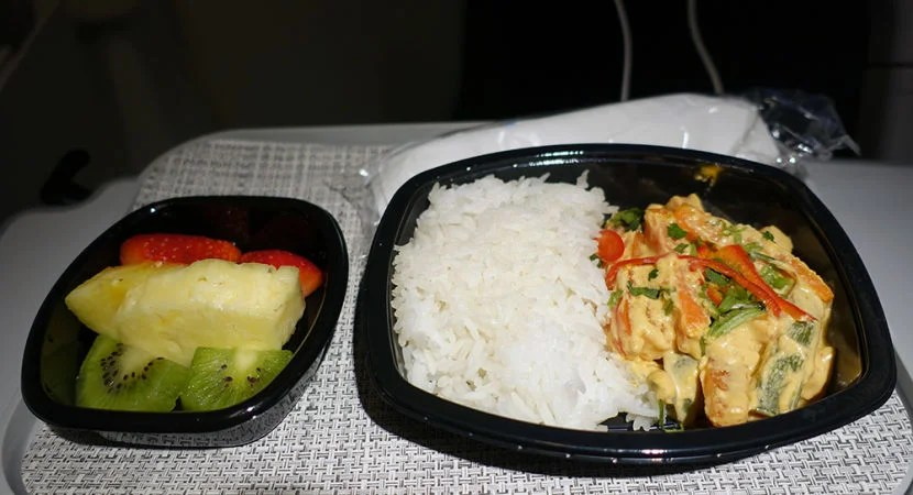 My meal on the return flight.