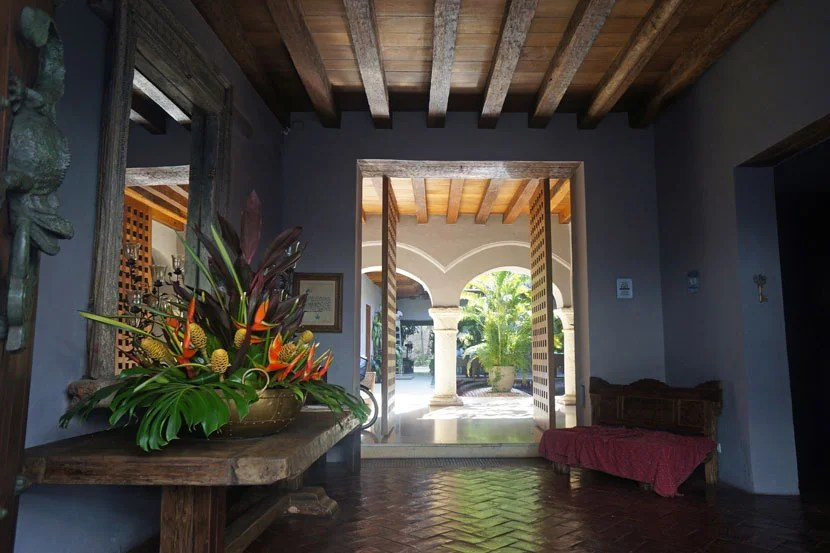 Smaller hotels will sometimes prop open their front doors, inviting you into their foyers for a bit of welcome shade.