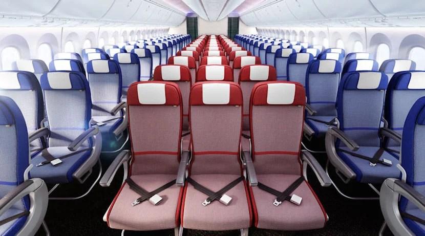 LATAM's A350 economy cabin. Image courtesy of LATAM.