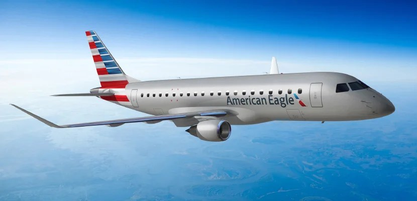 american emb-175 eagle regional jet featured