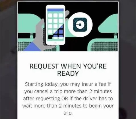 Watch out for this notification the next time you request a ride. Image courtesy of TechCrunch.