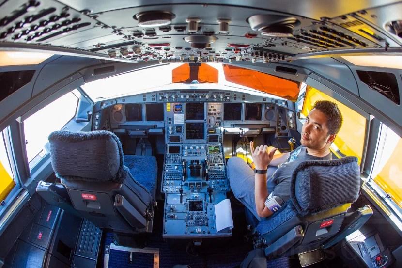 Inside the cockpit of Hawaiian's A330.