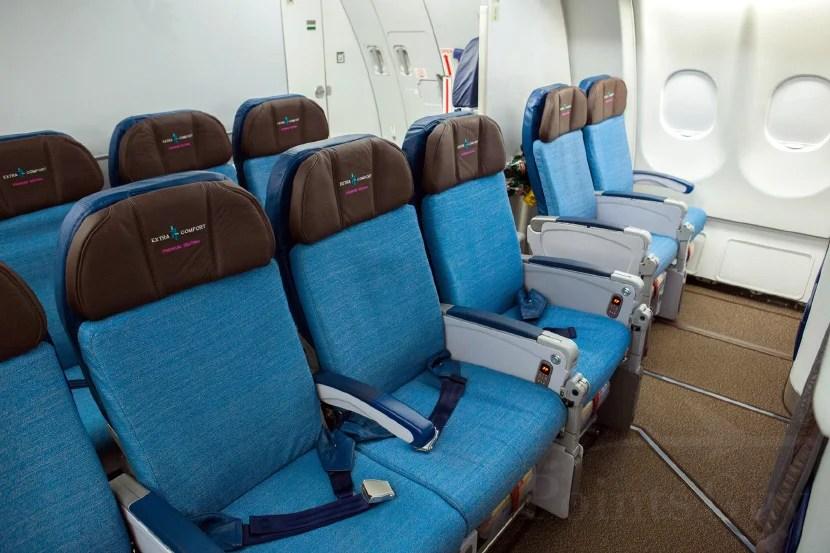 Bulkhead seats provide a bit of extra room.