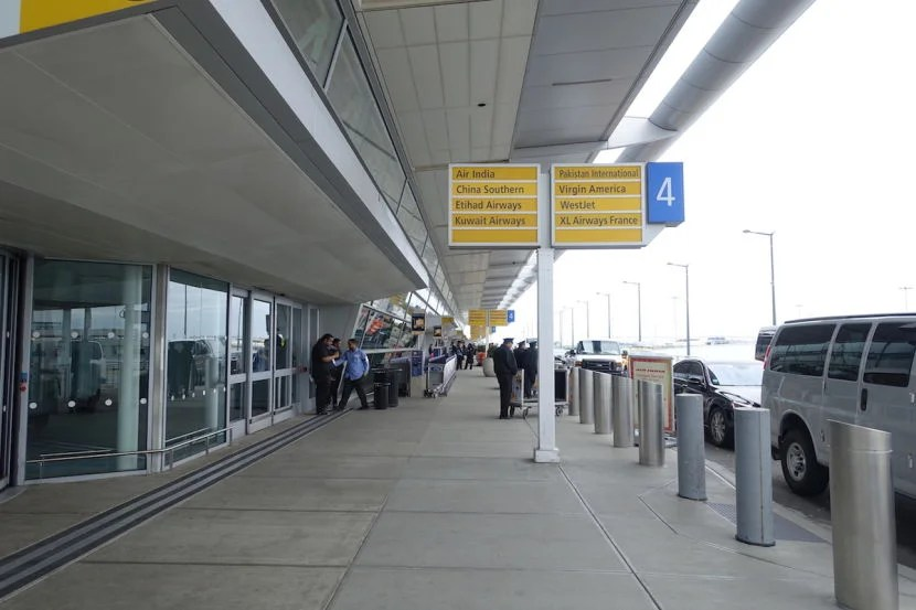 Etihad flies out of Terminal 4 at JFK.