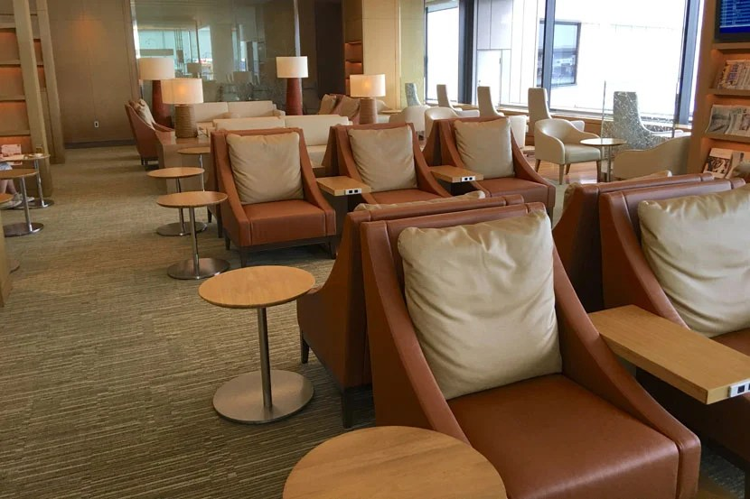 Most Sakura Lounge seats have their own AC outlet.