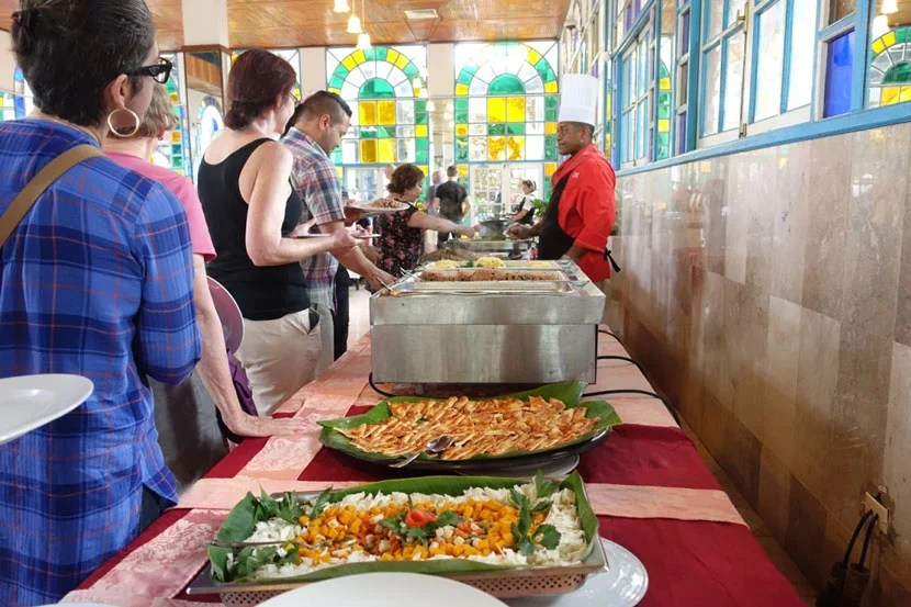 A peek at the lunch buffet at the Tropicana, Santiago de Cuba.