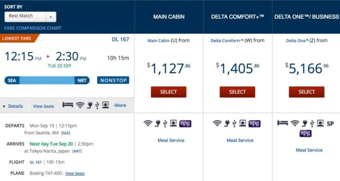 Delta's using a separate fare class for Comfort+.