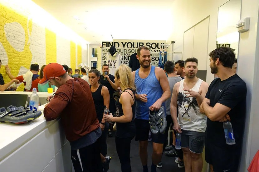 Everyone had a great time at SoulCycle in New York last night.