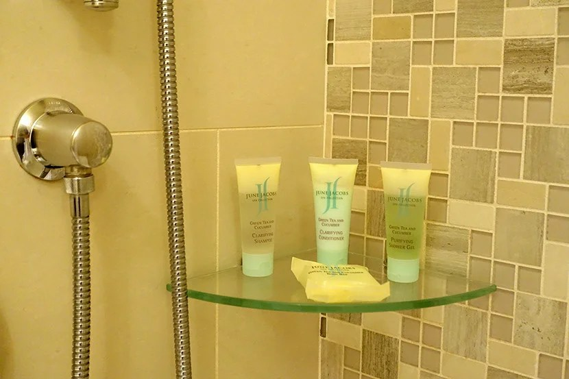 I liked the June Jacobs toiletries.