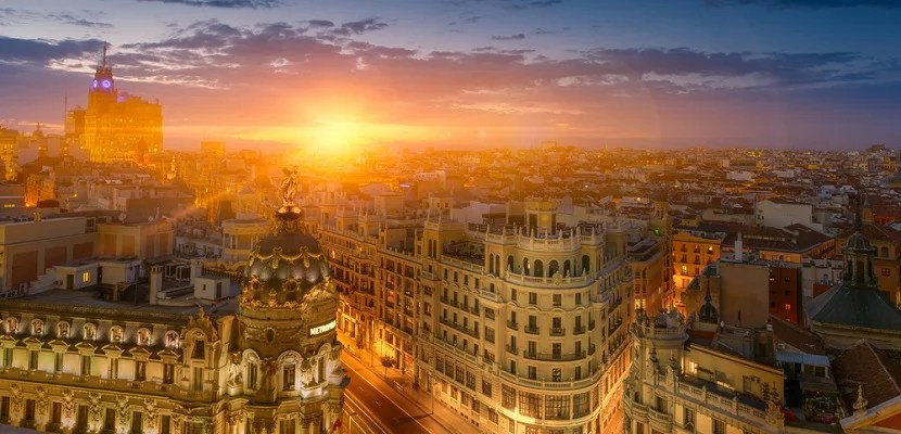 IMG Madrid sunset featured shutterstock 221250313