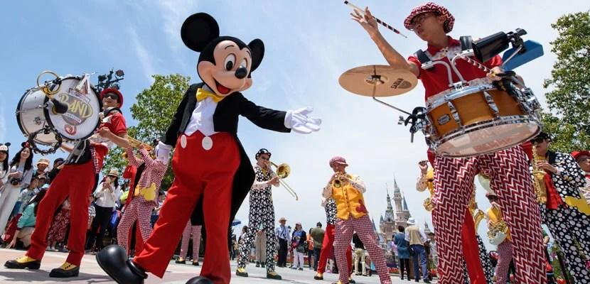 Mickey Mouse at Shanghai Disneyland.