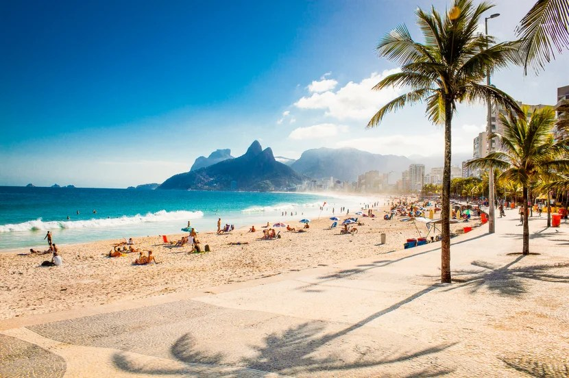 You're better off enjoying Ipanema Beach after the Olympics when it will look like this. Photo courtesy of Shutterstock.
