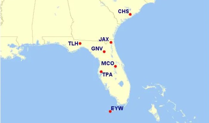 While AA has 122 destinations from MIA, just 9 routes are eligible under the new award level.