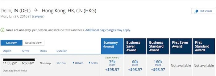 United would have charged me 60,000 miles for the same trip!