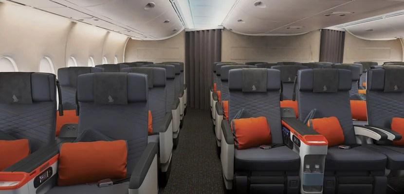 Premium Economy seats on Singapore Airlines.