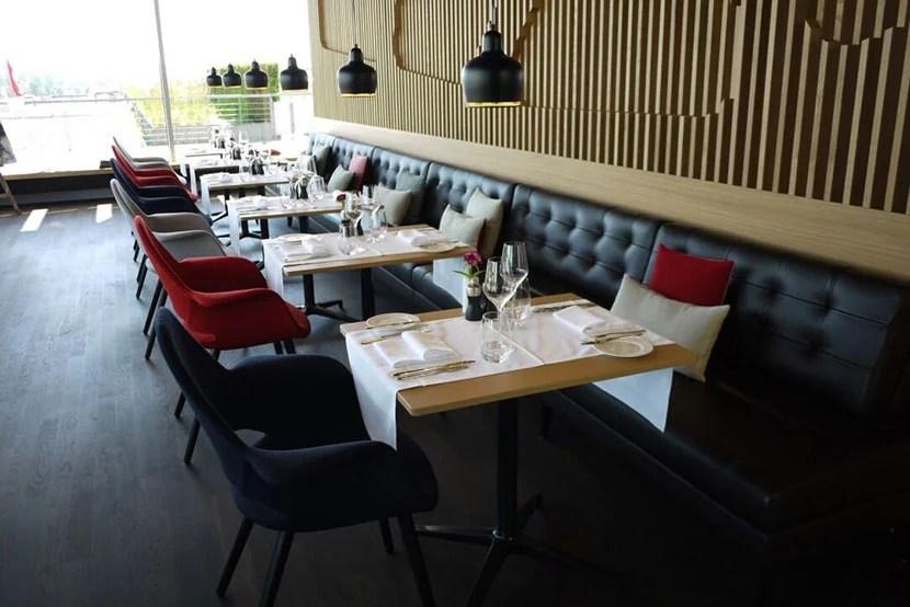Swiss First Lounge in Zurich.