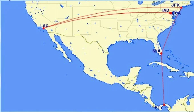 I flew 14,031 miles on business fares with American which earn 2X EQMs.