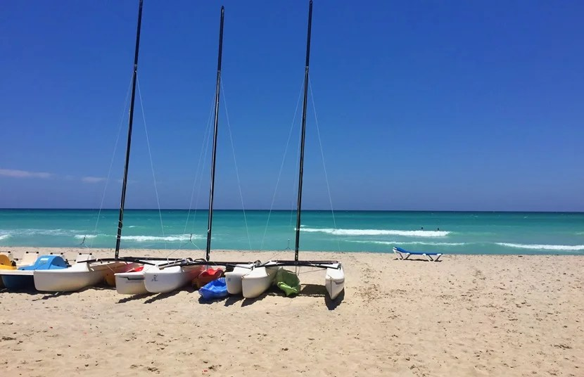 Varadero's fine white sands and crisp turquoise waters.