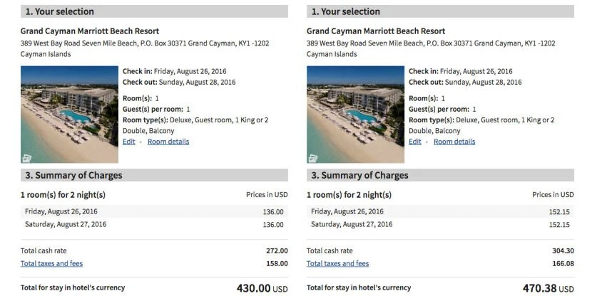 You'll save about $20 per night (compared to the AAA rate) in Grand Cayman.