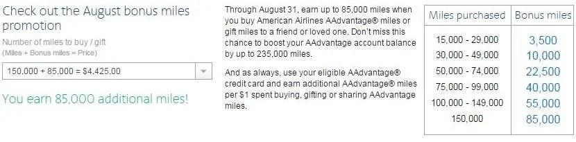 Earn 85,000 bonus miles when you maximize your mileage purchase.