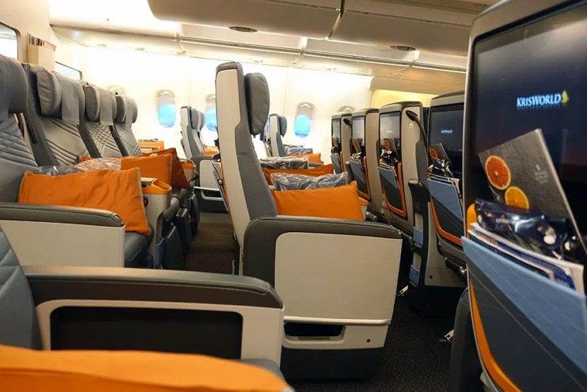 There's more legroom for passengers than the seats' economy counterparts.