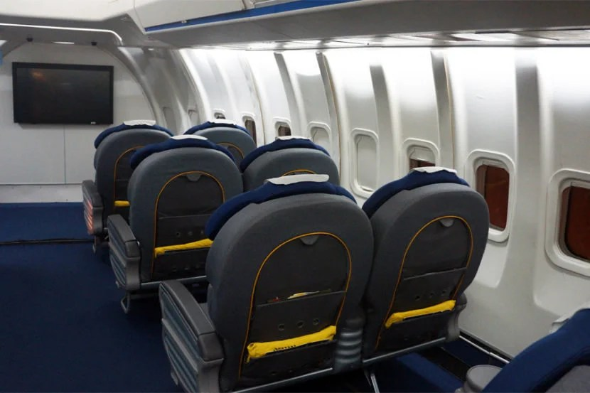 SOFIA offers several rows of business-class passenger seating. Photo courtesy of Chris Sloan.