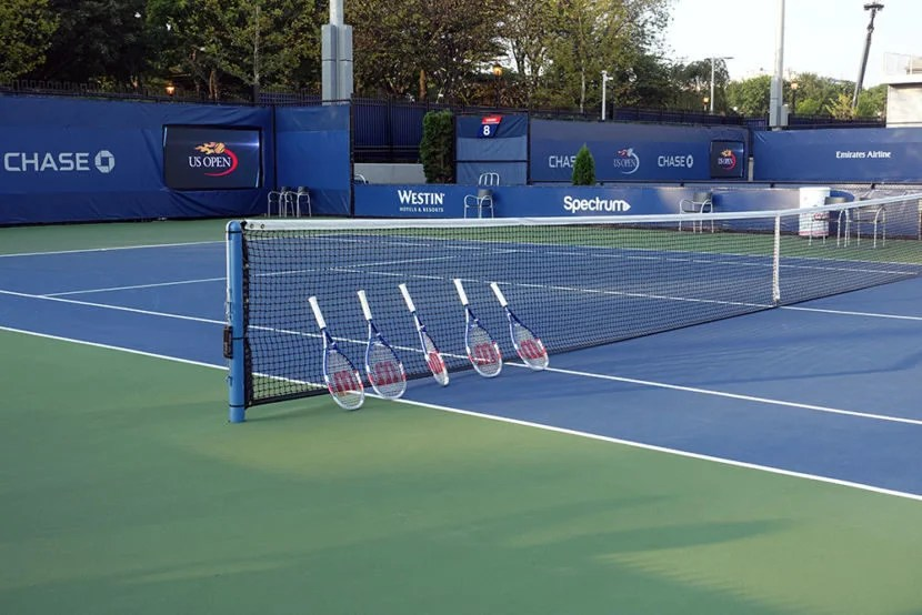 There were a few racquets to use for the clinic.