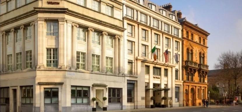 The historic exterior of the Westin Dublin