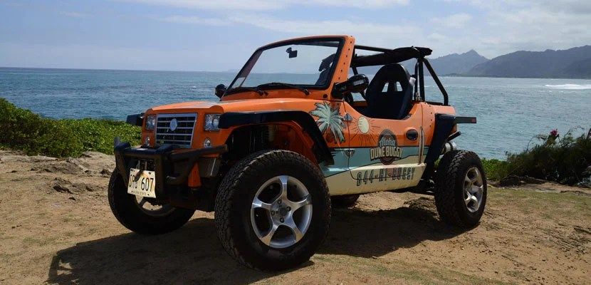 Get away from Waikiki and cruise the north shore in a dune buggy. (Photo courtesy Aloha Buggies Facebook page)
