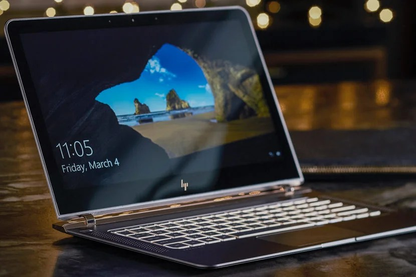 The HP Spectre is the slimmest laptop in the world. Image courtesy of HP.
