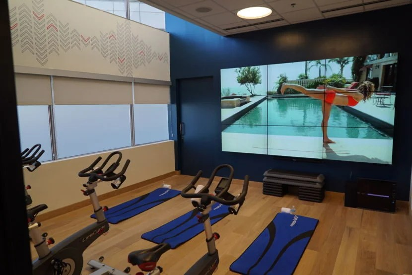 The on-demand fitness studio at the M Beta.