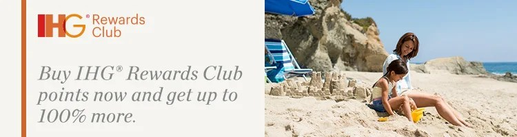 Earn a 100% bonus when you purchase IHG points in the next three weeks.