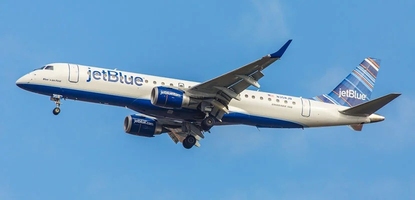 JetBlue in the air.
